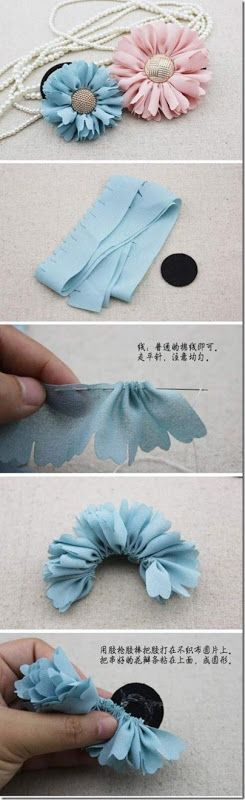 Fabric Bows and More: Fabric Flower by Zobacz Wiecejno Stylowi.pl