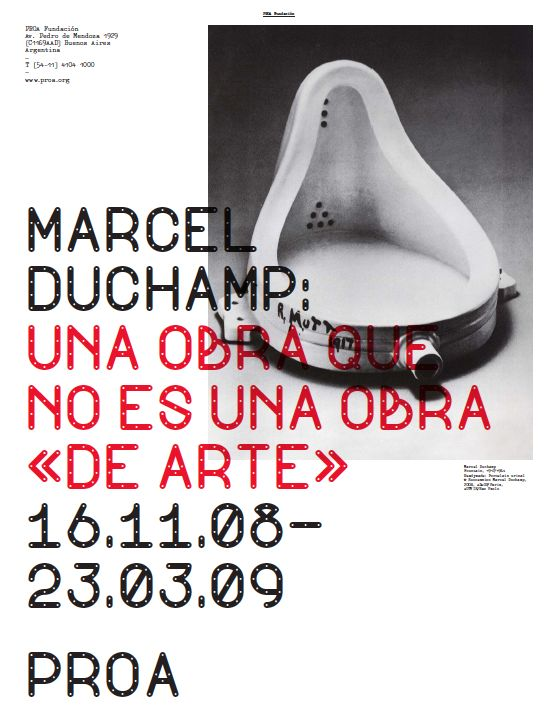 Marcel Duchamp exhibition poster designed by Spin