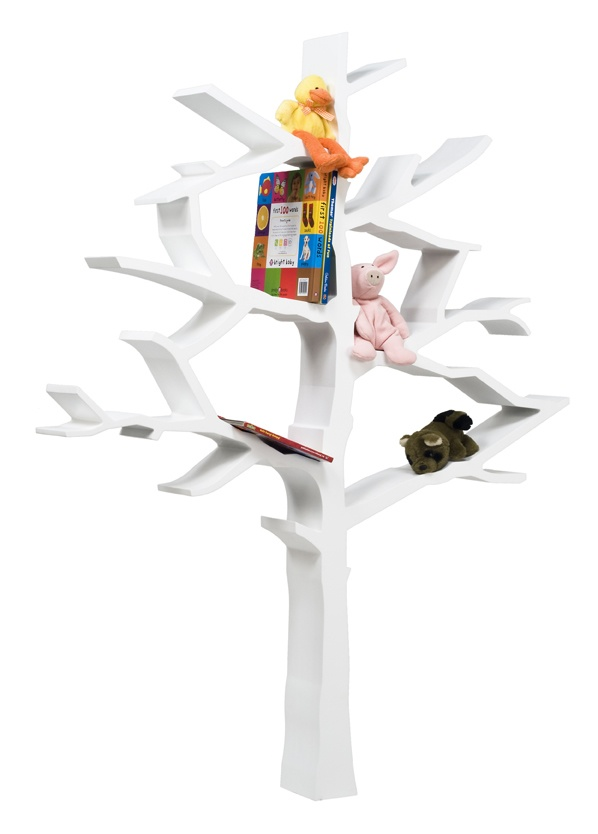 Tree Bookcase (white)   organic crib baby bedding for kids green cribs eco friendly natural clothing clothes toys gifts products mattresses