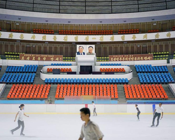 Pyongyang Ice Rink, interior - Photo by Raphael Olivier.