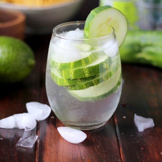 Refreshing Cucumber Vodka Water - like sipping on cucumber-infused water at the spa. Light, crisp and refreshing.  Low-calorie/low-carb.