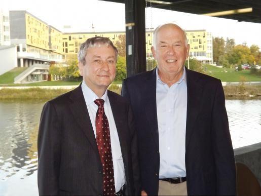 Deputy Minister of #Finance Mr. Michael Horgan (left) with #Professor Emeritus Dr. Harry Kitchen