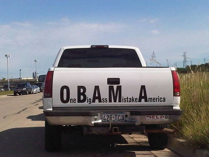 Obama Acronym Signs on the Rear of Trucks | Jokes of The ...