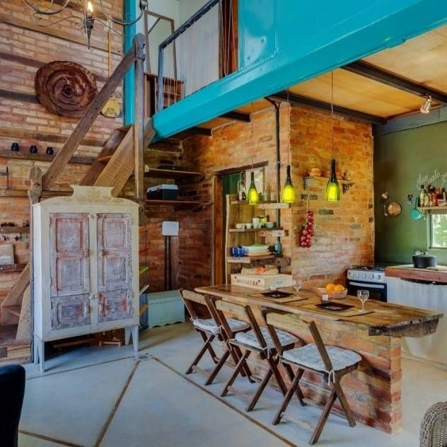 Casa ReFit : Salas de estar rústicas por Ferraro Habitat