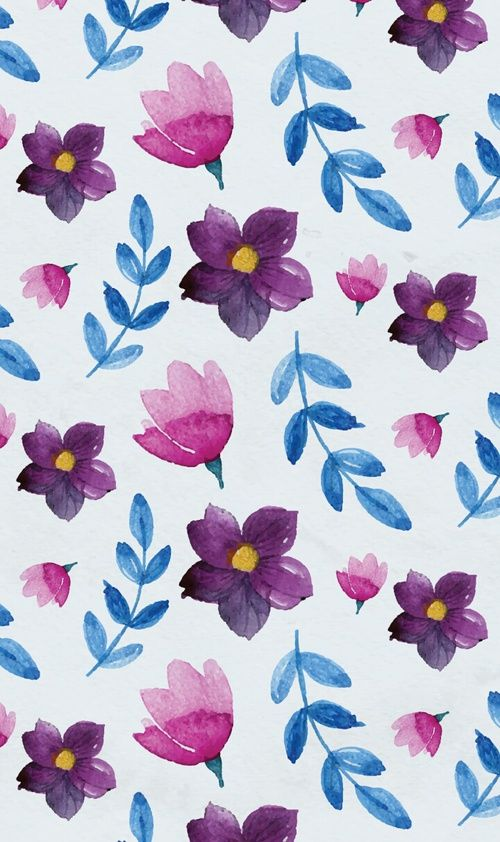 wallpapers, pattern, and pattern flowers image
