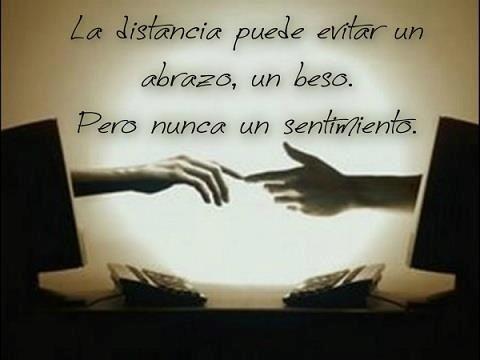 distance can avoid a hug, a kiss, but never a feeling