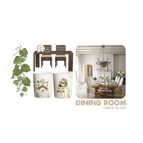 """""""Dining Room under $1,000"""" by essenceve on Polyvore"""