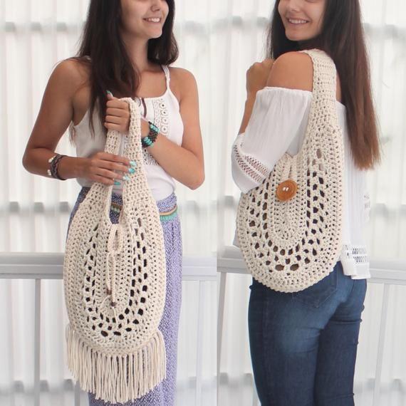 Crochet bag pattern-REVERSIBLE bag-CONVERTIBLE bag- 2for1/ 2in1 bag-Crochet Boho bag-Crochet bag tote-Market bag -Handmade bag- Handbag PDF