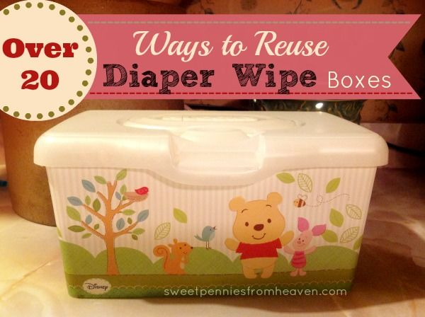 Don't get rid of your containers!! There are SO many ways to reuse diaper wipe containers!! Click on over for a list of over 20 ways to reuse them! Some are obvious organizational solutions, but some are also very creative!
