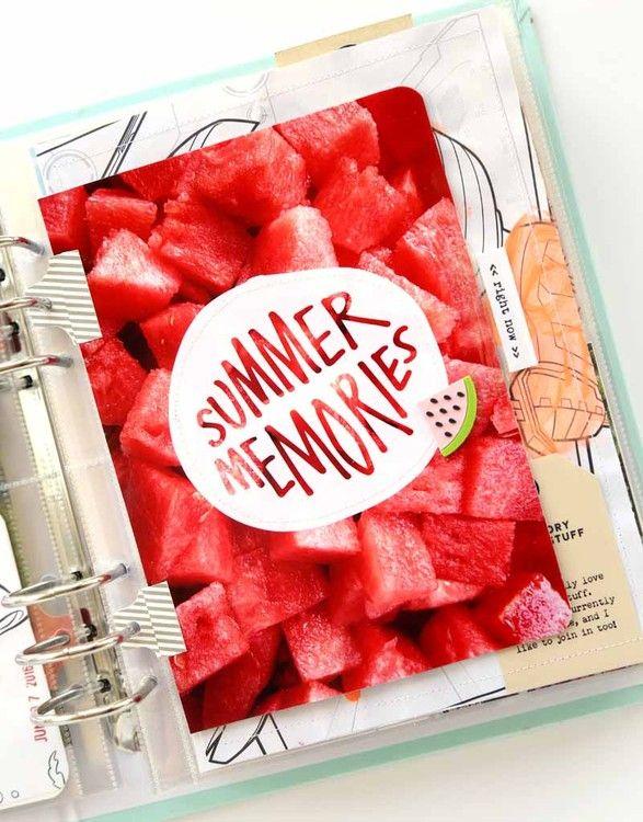 POCKET SCRAPBOOK - SUMMER 2016 ~ Love this photo of cut up watermelon.