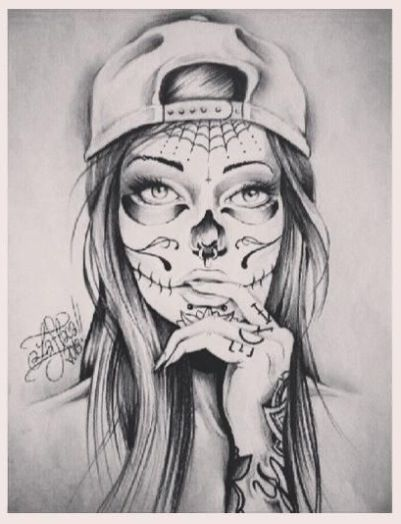 sugar skull girl                                                       …                                                                                                                                                                                 More