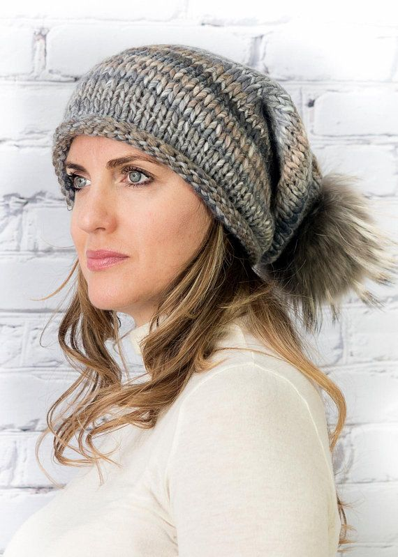 a27f93eb Chunky wool knitted hat and cowl in 2019 | Hairstyle-Makeup-Beauty ...