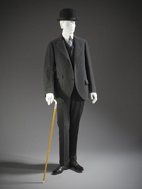 Man's Three-piece Lounge Suit, 1911  Costume/clothing principle attire/entire body, Wool twill,