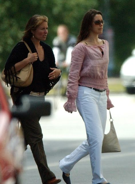 With Birgitte Handwerk in August 2002