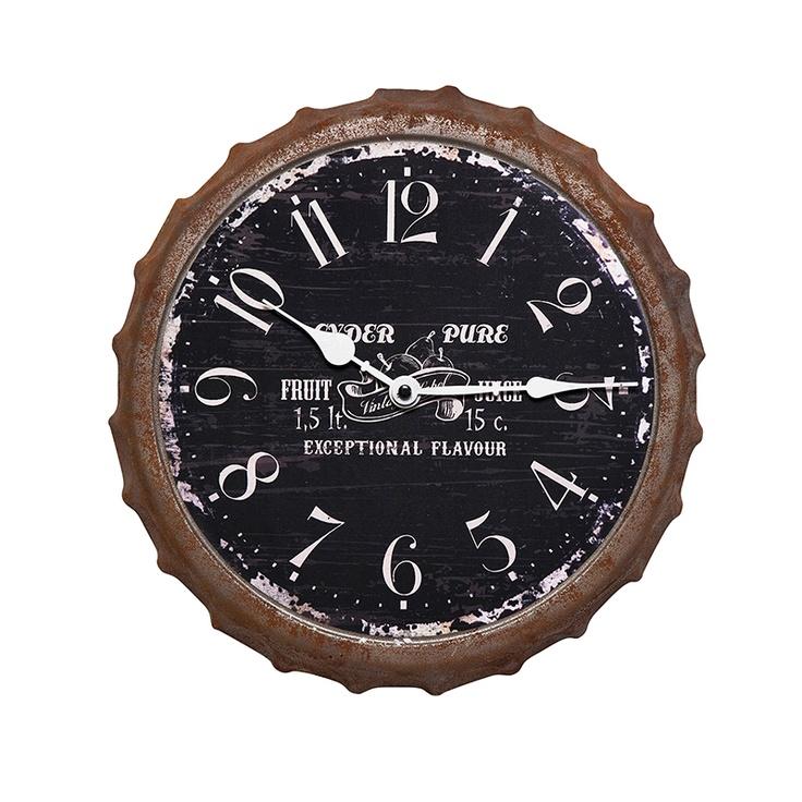 10 best horloges avec des capsules images on pinterest beer cans vggklocka vintage kapsyl black vintage wall clocksvintage fandeluxe Choice Image