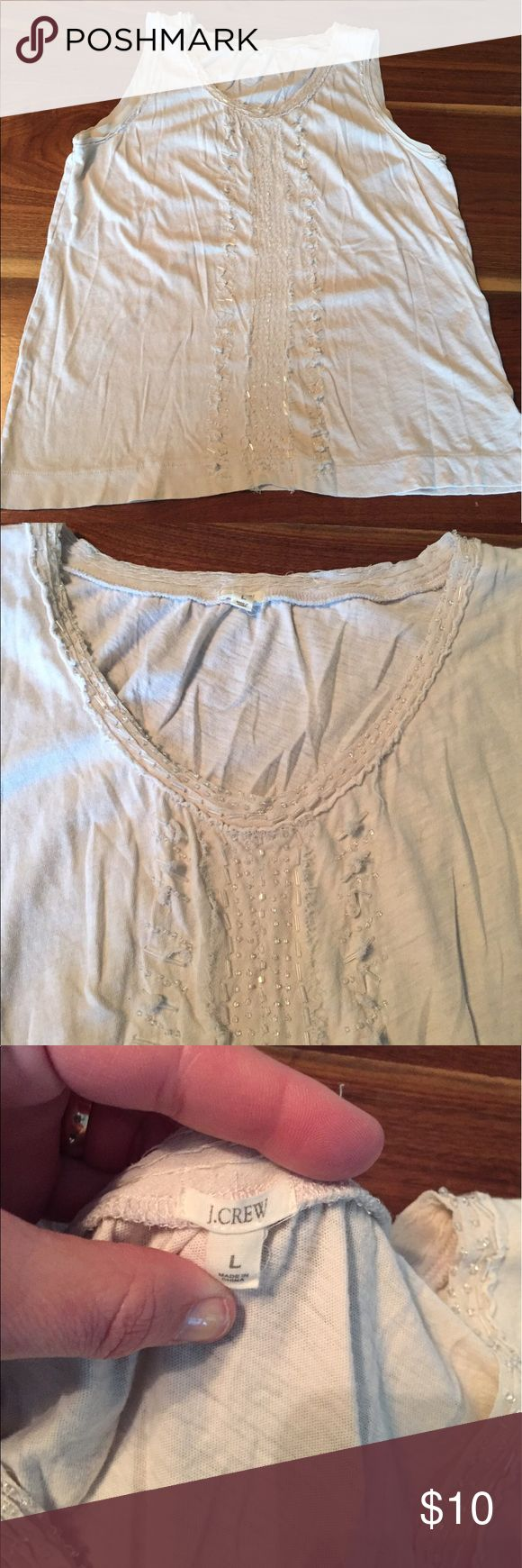 J. Jill women's top size Large J. Jill women's size Large distressed look cream colored top. Good used condition. J. Jill Tops Tank Tops