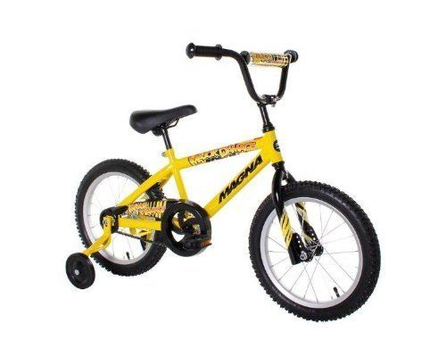 """Coaster Brake - Dynacraft Magna Major Damage Boy's Bike (16-Inch, Yellow/Black) by Dynacraft. $111.98. Dynacraft Magna Major Damage Boy's Bike (16-Inch, Yellow/Black)16"""" Boys Major Damage / Magna BikeDisclosure: Suggested age is 0 - 18 years Product may contain Small parts Not suitable for children under 3 yrs."""