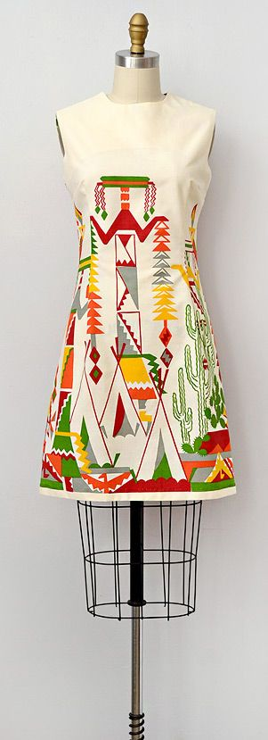 vintage 1960s dress   Desert Dwelling Dress... Nice!!!