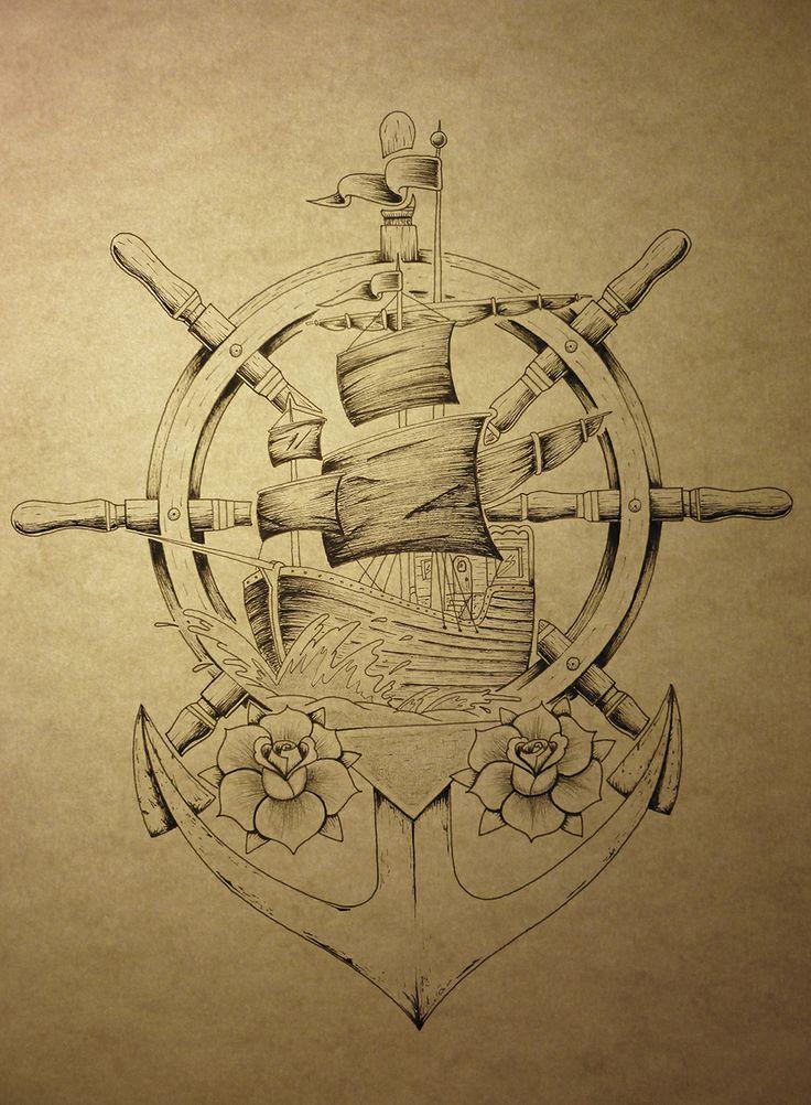Bateau, ancre tatoo