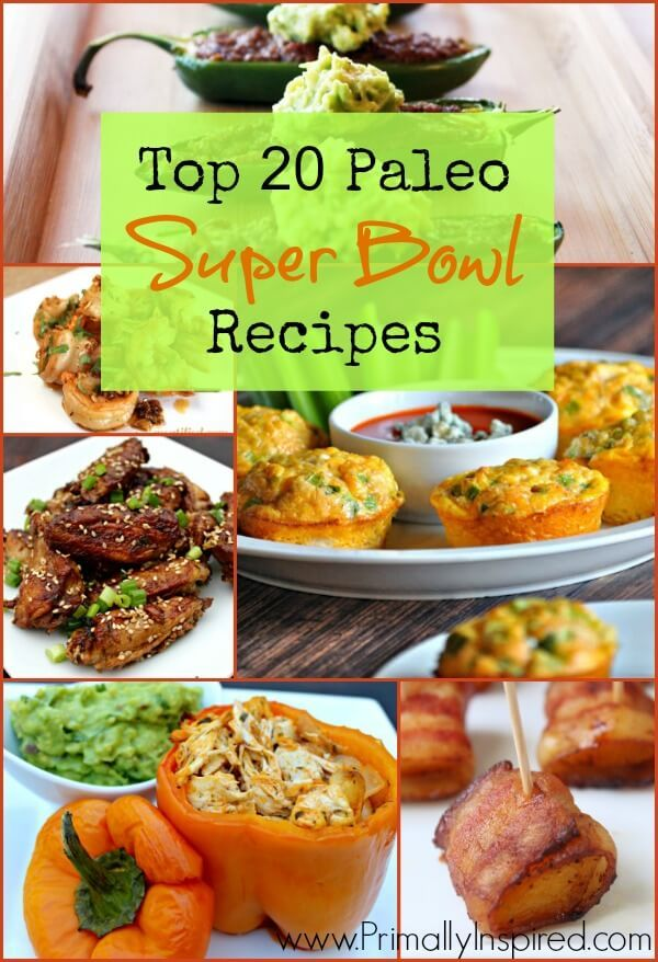 Here are the Top 20 Paleo Super Bowl Recipes. From Loaded Mexican Nachos to Chili Pepper Poppers, this list covers the best Paleo Football Party Recipes!