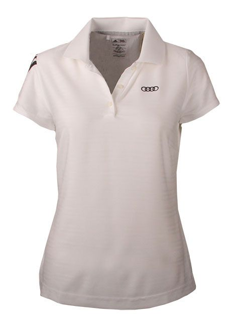 Take your passion further with gear from the Audi Collection like this Adidas Ladies polo shirt.