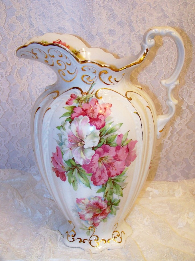 Beautiful vintage pitcher~via The Roseberry Cottage