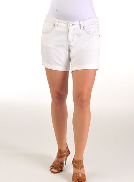 Pumpkin Patch - shorts - white denim shorts - S2MT50004 - white - xs to xlarge