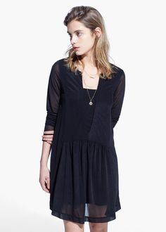 Vestito nero mango hair
