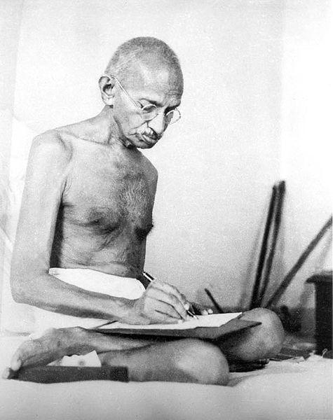 Mohandas Karamchand Gandhi aka Mahatma Gandhi (1869 - 1948).