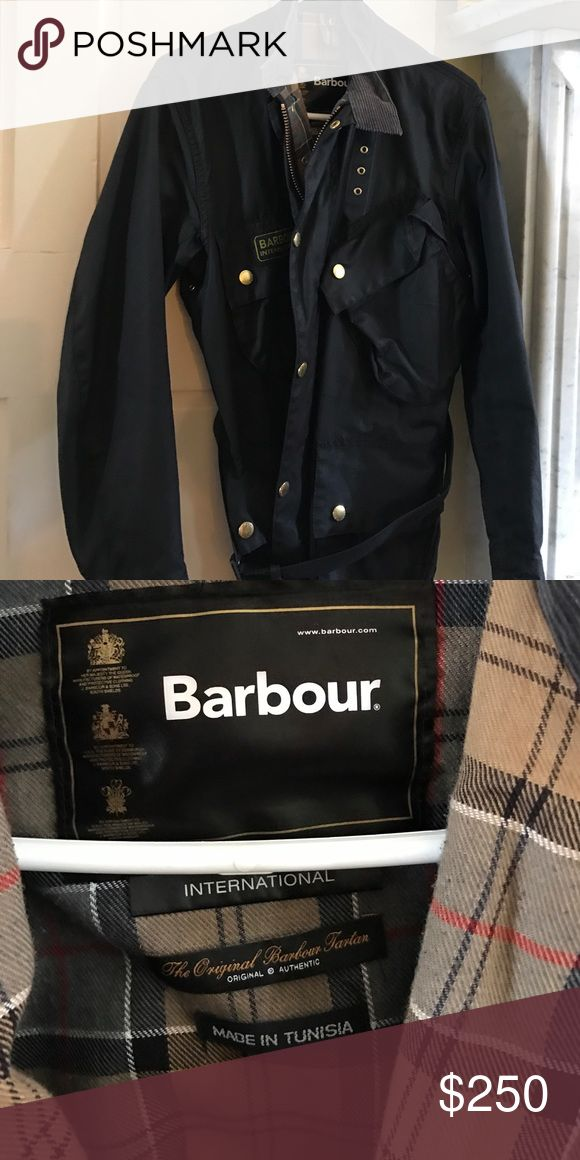 Barbour International jacket Men's black waxed jacket size 38 Barbour Jackets & Coats Military & Field