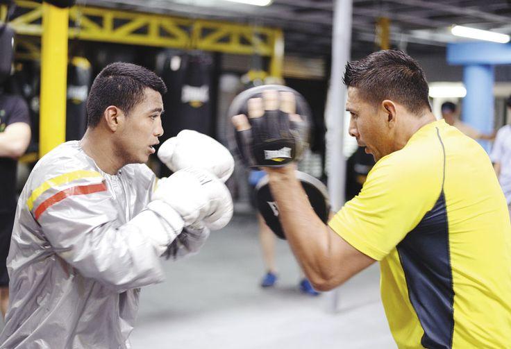 Román  González siempre se ha preparado bien y esta vez fue más allá  para no deslucir en su nueva condición como mejor boxeador del mundo. LA PRENSA/OSCAR NAVARRETE
