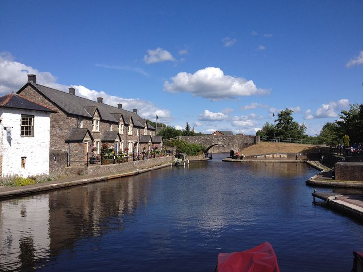 Brecon Town. A view of the canal. Wales is beautiful.