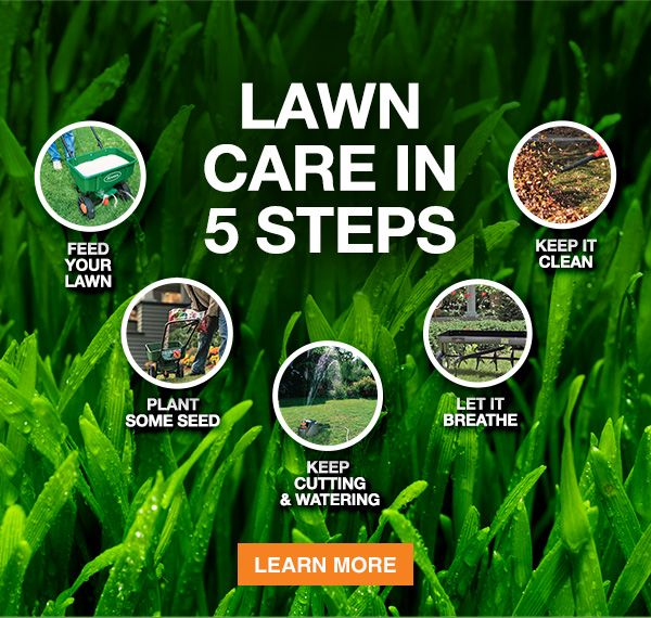 Lawn Care In 5 Steps - From The Home Depot Garden Club