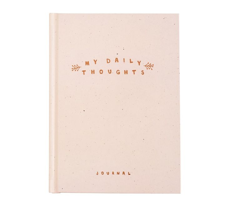 Be inspired to write your tomorrow with this beautiful Daily Thoughts Journal in blush pink