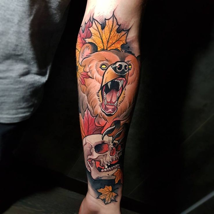 110 best bear tattoos design images on pinterest. Black Bedroom Furniture Sets. Home Design Ideas