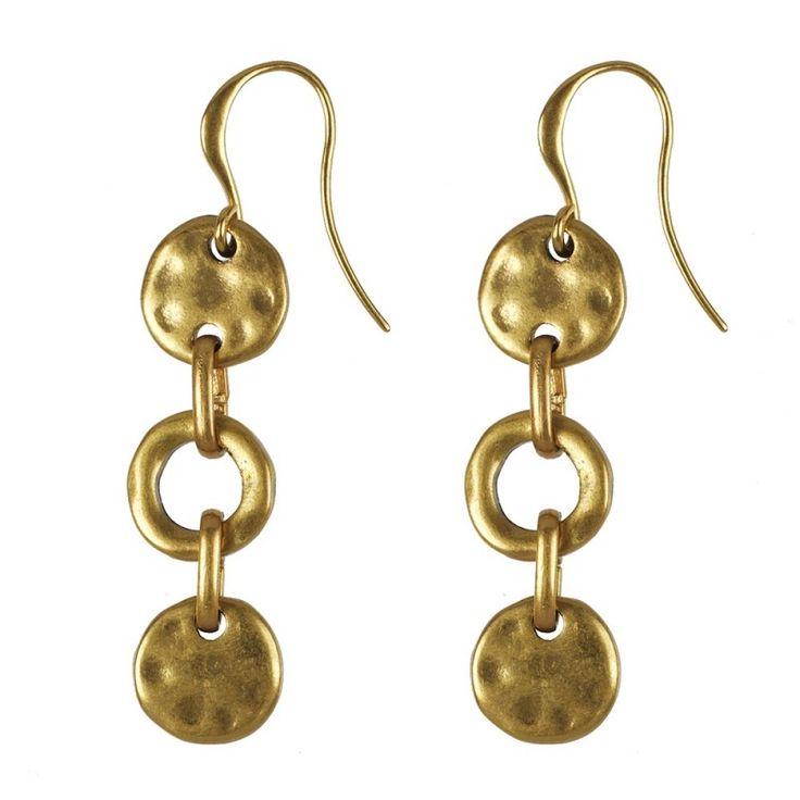 Hultquist-Copenhagen Linking Coin Earrings - Gold