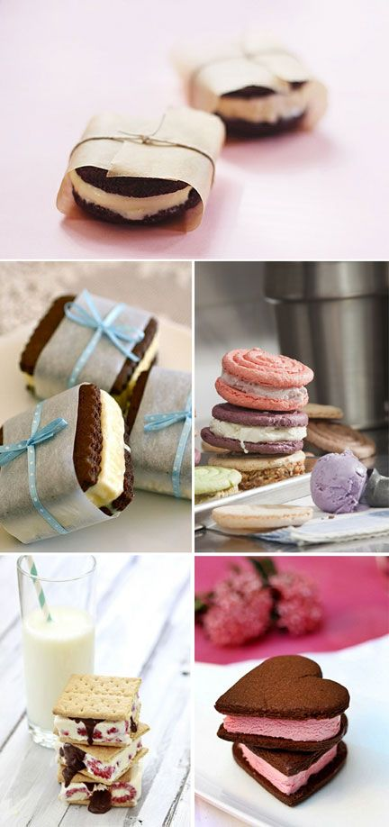 For a summer wedding ice cream sandwiches would be a welcomed sweet for your guests