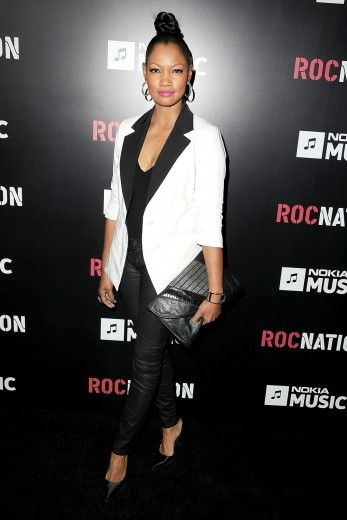 Have you noticed how sleek Garcelle Beauvais looks these days? This reversed tuxedo and leather leggings further confirms that she's stepped up her game (at The Roc Nation Pre-GRAMMY Brunch at Soho House in West Hollywood, California)