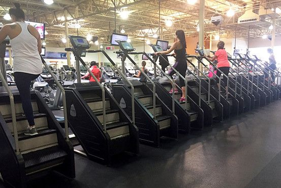 Stepmills are growing at gyms as people want tougher, shorter workouts, leading to talk of conquering the #stairmonster.