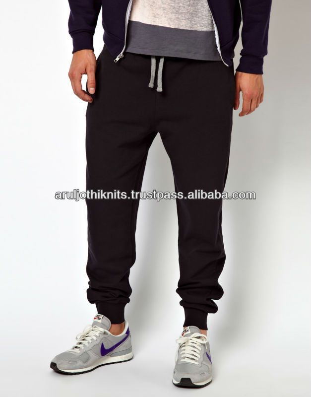 MENS DROP CROTCH PANT WITH CONTRAST DRAW STRING $6.00~$7.00