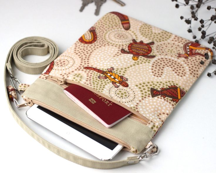 Small crossbody bag Travel document organizer iPad mini case Australian gifts Boho crossbody bag Small crossbody purse Australian animal by KodamaLife on Etsy https://www.etsy.com/listing/476159914/small-crossbody-bag-travel-document