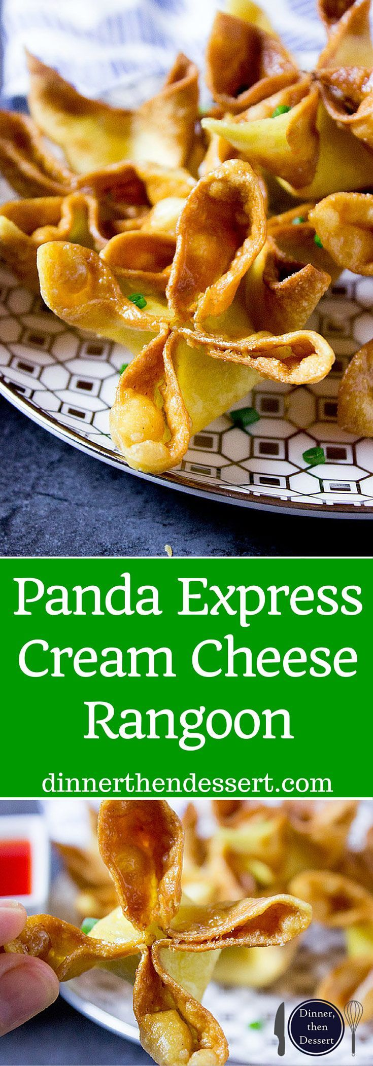 Panda Express Cream Cheese Rangoon made with a creamy center and crispy exterior, these are the perfect appetizer for your next Chinese takeout meal. You can make ahead and freeze for later too.
