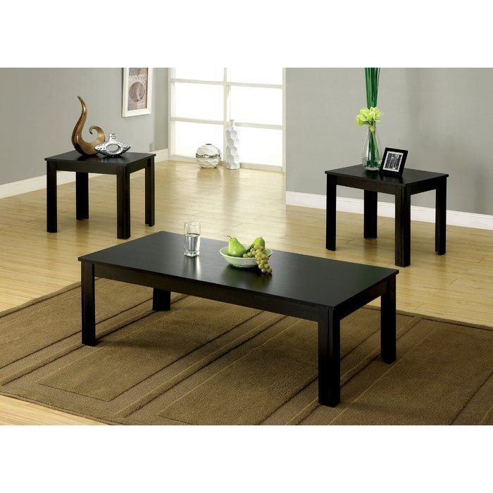 Carl 3 Piece Coffee Table Set In 2020 3 Piece Coffee Table Set