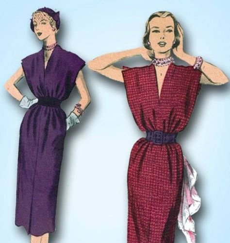 1950s Very Easy Tunic Dress Pattern Unused Advance Design Size Medium 32-34 Bust