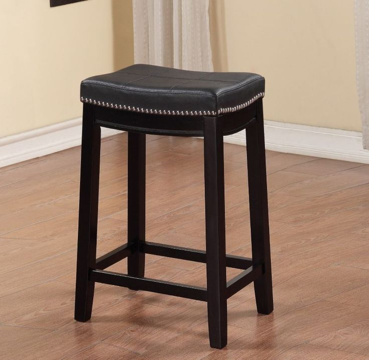 Classic Sturdy Rubber Wood Frame Backless Counter Stool With Black Vinyl Seat & 18 best Bar Stools images on Pinterest | Adjustable bar stools ... islam-shia.org