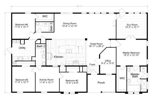 21 best Triple Wide Floor Plans images – Triple Wide Mobile Home Floor Plans