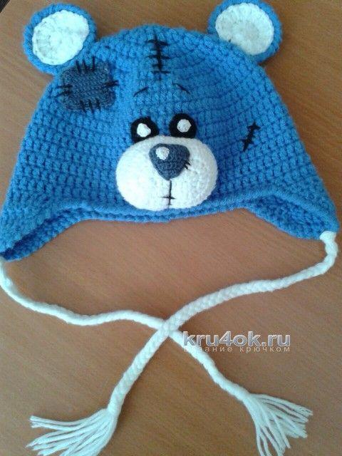 Вязаная шапочка Тедди. Работа Алены Т. вязание и схемы вязания