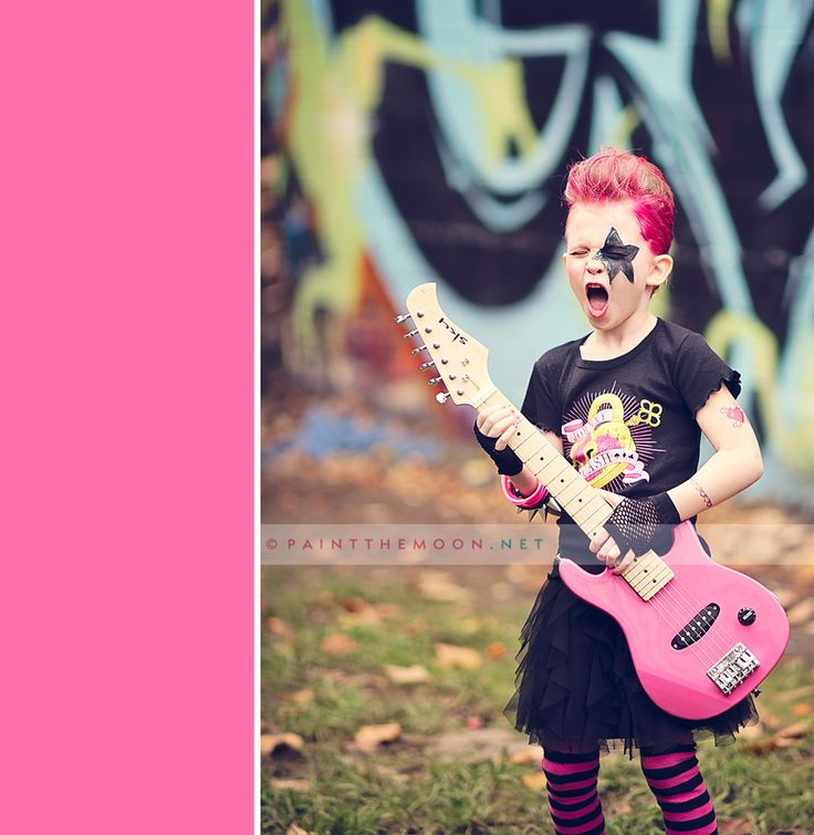 Punk Rock Star Kid's Birthday Party ... lots of fun photos and party details.  http://paintthemoon.net/blog
