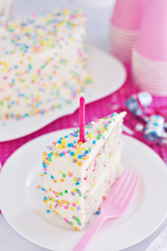 Funfetti Layer Cake with Whipped Vanilla Frosting