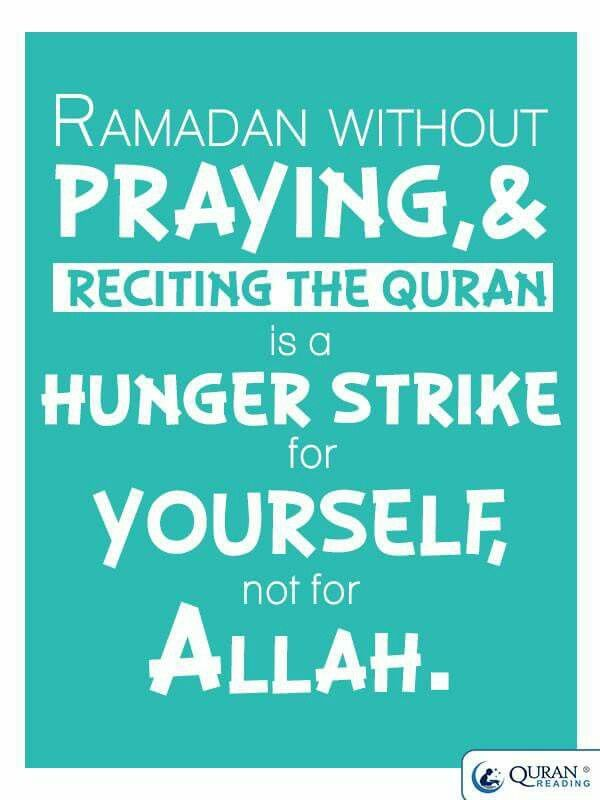 Ramadhan w/o praying & reciting the Qur'an...